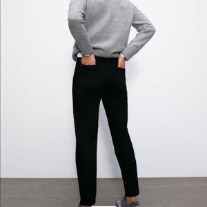 Black denim mom fit jeans